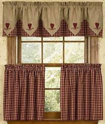 Country Style Window Curtains Photo Of Cafe Style Curtains For Kitchen Click On Above