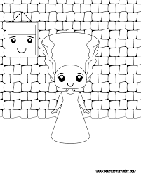 printable bride of frankenstein coloring page my coloring pages