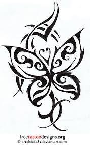 tribal butterfly design tattoos tribal