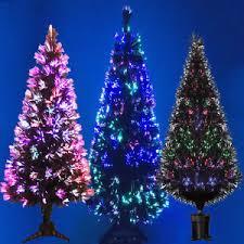 black fibre optic tree colour changing 2ft 3ft 4ft 5ft