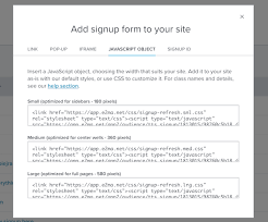 customizing your signup form email marketing help