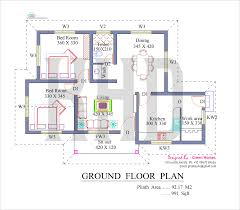 Blueprints For Small Houses by Elevation Square Feet Kerala Home Design Floor Plans Kerala Style
