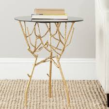 Glass Accent Table Safavieh Home Collection Tara Gold Accent Table