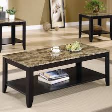 living room small coffee table with rounded look and glass top