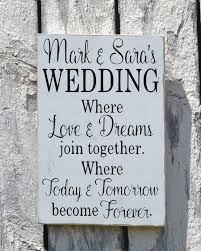 wedding quotes signs rustic wedding sign welcome personalized signs for weddings