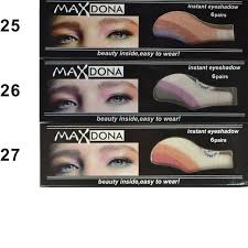 outtop 6 pair instant eye shadow temporary makeup eye