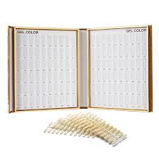 amazon com makartt 120 nail color chart display book golden nail