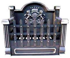 Fireplace Grate Cast Iron by Ci920 Black Cast Iron Basket Grate With Fireback 18