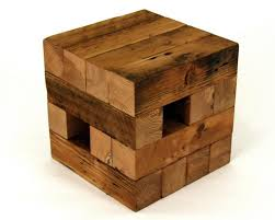 recycled wood koper reclaimed end table from recycled wood digsdigs