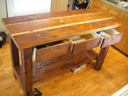 wood kitchen island ana white kitchen island from reclaimed wood diy projects