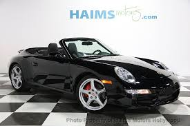 black porsche convertible 2007 used porsche 911 carrera 4s cabriolet at haims motors serving