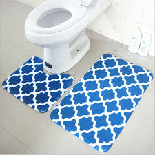 Water Absorbing Carpet by Bath Mat Set 2 Pieces 100 Polyester Non Slip Bathroom Carpet And