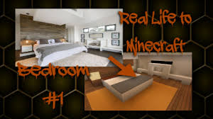 Minecraft Bedroom Furniture Real Life by Minecraft Real Life To Minecraft Bedroom 1 Youtube