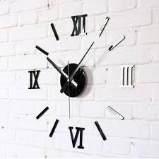 modern kitchen clock modern 3d wall clocks sticker removable wall decal art mural clock
