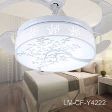 aliexpress com buy white leaf pattern hidden blades ceiling fan