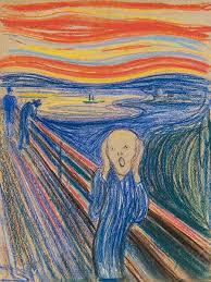 Barevnãƒâ Sova Vosk Pastely A Vod Barvy M Edward Munch Výkřik 1895 Expresionismus Portrét Obrazy
