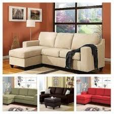 Sofa With Reversible Chaise Lounge by Microfiber Chaise Sofa Foter