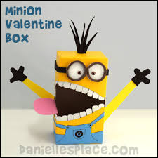 Decorate Valentine Box For Boy Valentine U0027s Day Craft Minion Valentine U0027s Day Card Holder Craft