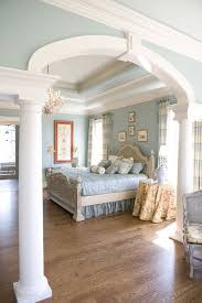 Tips Amp Tricks Redoubtable Sliding Barn Door For Unique by Beautiful Blue Bedroom With Crown Molding Details Adding Crown