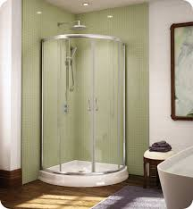 36 Shower Doors Fleurco Fax364 Signature Arc 36 Frameless Curved Glass