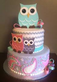 owl themed baby shower ideas superb delicious looked in white purple and pink cake design