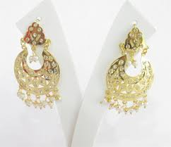 punjabi jhumka earrings punjabi gold jadau chand bali indian earrings jewelry punjabi