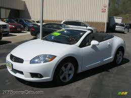 white mitsubishi endeavor 2009 mitsubishi eclipse spyder gs in northstar white satin