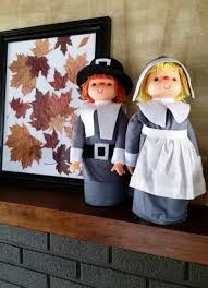 thanksgiving decorations craft these grateful pilgrims from