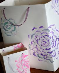 Frugal Flowers - the semi frugal life homemade gift bags with easy hand painted