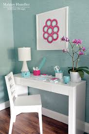 aqua blue desk accessories turquoise blue grasscloth contemporary den library office