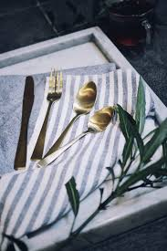fancy a dinner party brass cutlery is sure to impress your