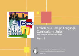French as a foreign language curriculum units with examples of