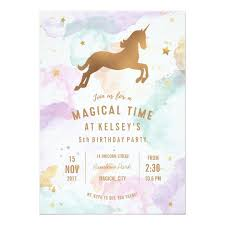 party invitations unicorn birthday party invitation zazzle