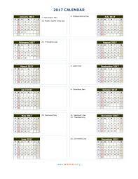 2017 Calendar Wikidates Org