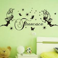 compare prices girls bedrooms furniture online shopping buy free shipping vinyl wall sticker francesca fairy girl and butterfly art wal mural nursery girls bedroom