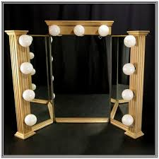 tri fold mirror with lights tri fold mirror with lights home design ideas
