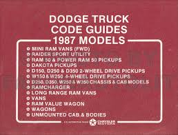 1987 dodge ram van and wagon repair shop manual original b150 b350