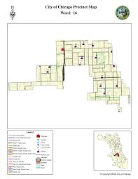 City Of Chicago Map by City Of Chicago 16th Ward Map W Precincts U2013 Derivative Works The