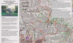 Map Of Orange County Orange County Mountain Biking Trail Maps