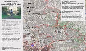 Map Of Santa Monica Orange County Mountain Biking Trail Maps