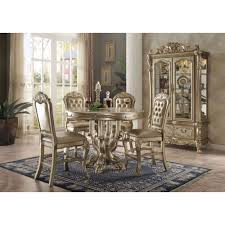 Acme Dining Room Sets by Acme Furniture Dresden Counter Height Table Set In Gold Patina