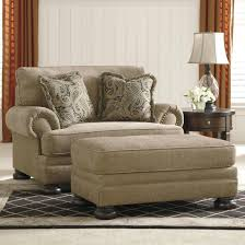 living room chairs and ottomans signature design by ashley keereel sand transitional chair and a
