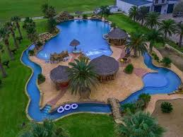 texas mansion with the world u0027s biggest backyard pool now for sale