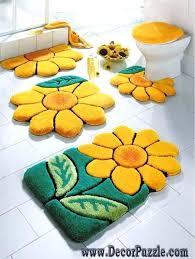 Orange Bathroom Rugs Fascinating Yellow Bathroom Rugs Orange Bath Rug Set Orange Bath