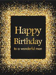 golden sparkle happy birthday card birthday u0026 greeting cards by