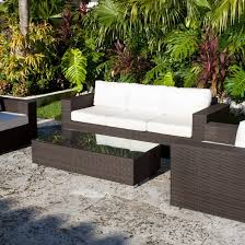 White Modern Outdoor Furniture by Patio Patio Furniture Dining Set Black And White Rectangle