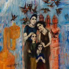 Seeking Painting Philip Evergood Seeking A Future Painting For Sale At 1stdibs