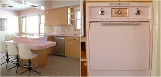 1950s interior design mid century design untouched 1950s house with a soft pink kitchen
