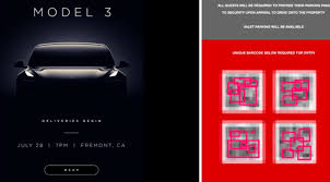 tesla streamlines model 3 event check in process with custom qr