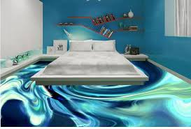 3d flooring ideas with water in design